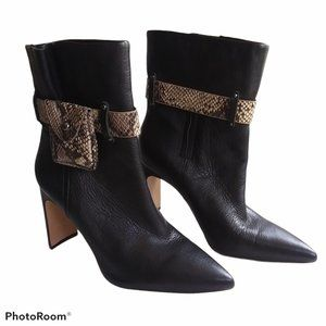 Jessica Simpson Brynne Black Boots Reptile Detail